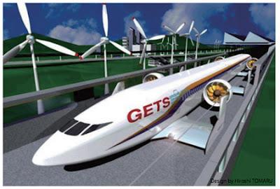 Kereta Terbang Berlokomotif Rancangan Peneliti Jepang