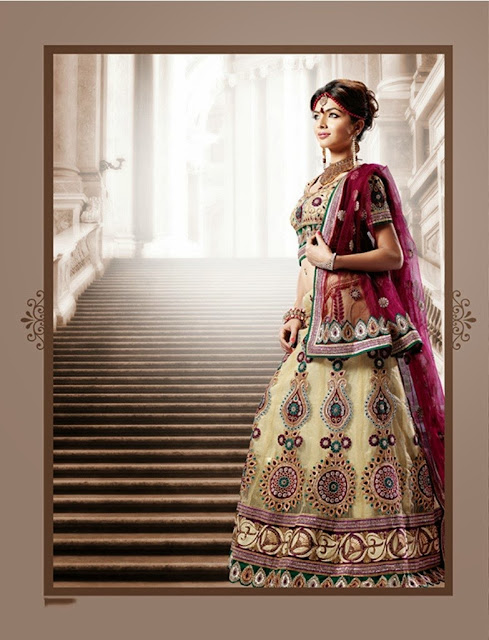 Adorable Buttercream Lehenga Choli