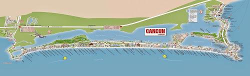 Cancun map - México