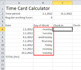 time card calulator