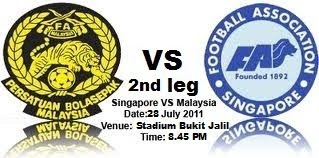 Malaysia VS Singapore 2nd Leg Live Streaming