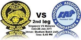 Malaysia VS Singapore 2nd Leg Live Streaming