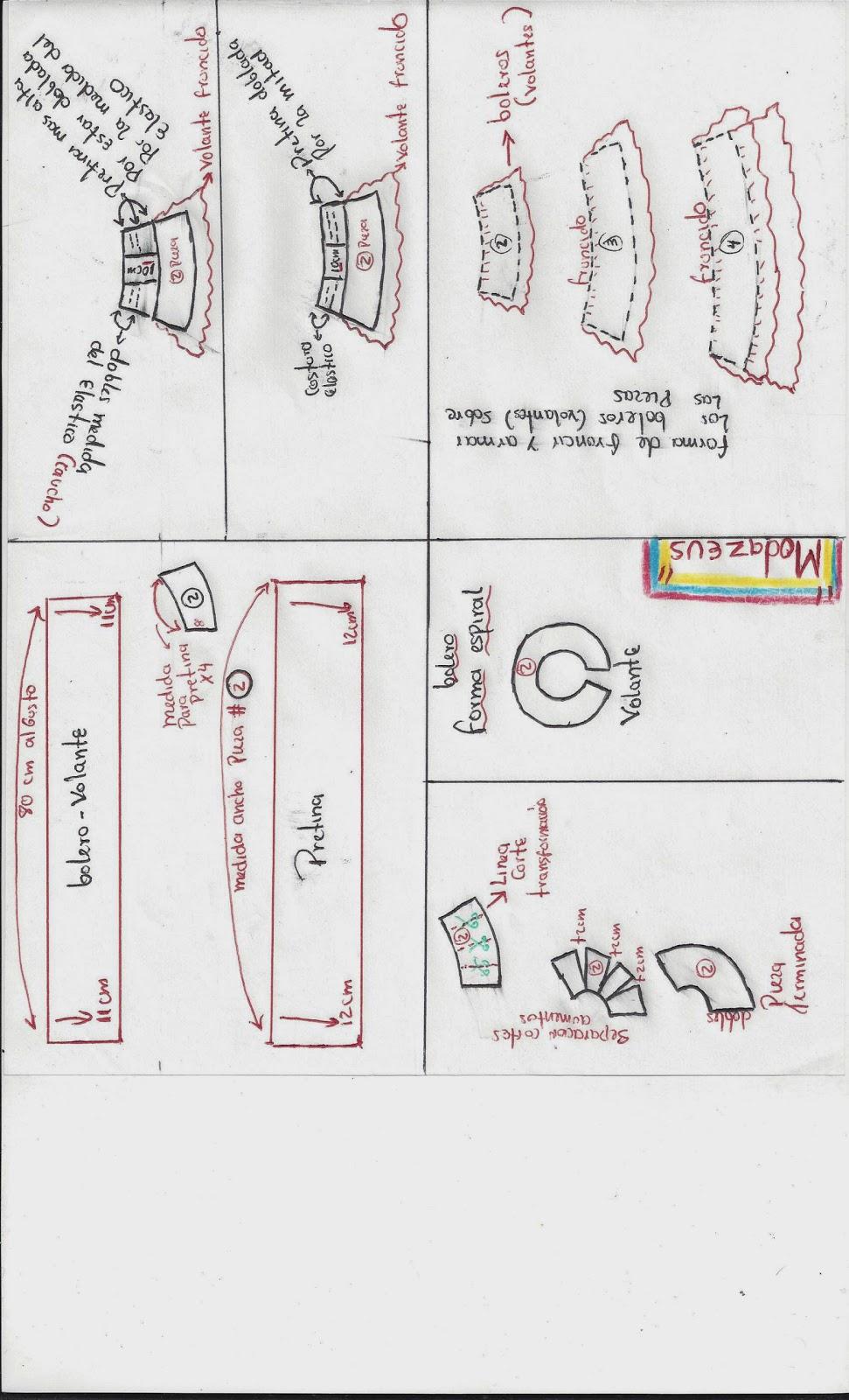 modazeus: falda con boleros para niñas