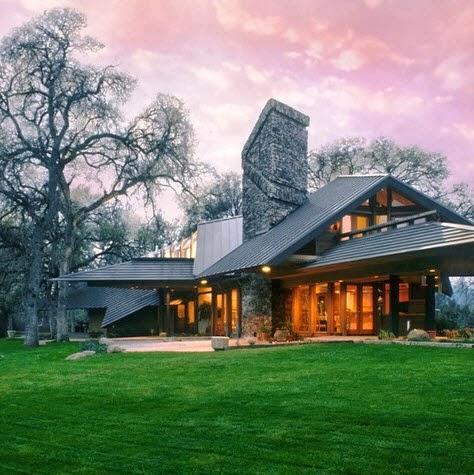 Fachadas de casas modernas en el campo dise os y estilos - Fotos de casas de campo de madera ...