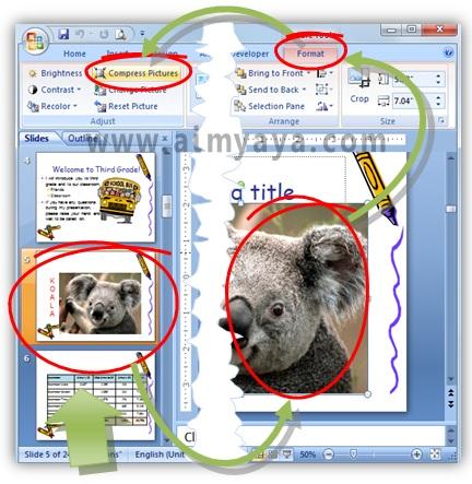Gambar:  Cara kompresi gambar di powerpoint