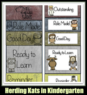 photo of: Herding Kats in Kindergarten Behavior Chart (Behavior Chart RoundUP via RainbowsWithinReach)