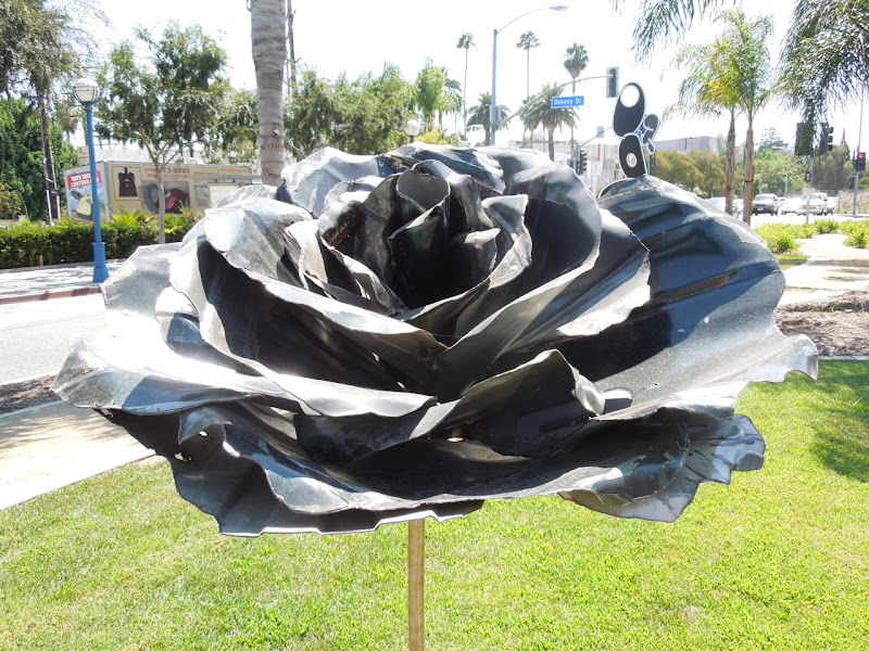 Standing Rose sculpture Michael Kalish