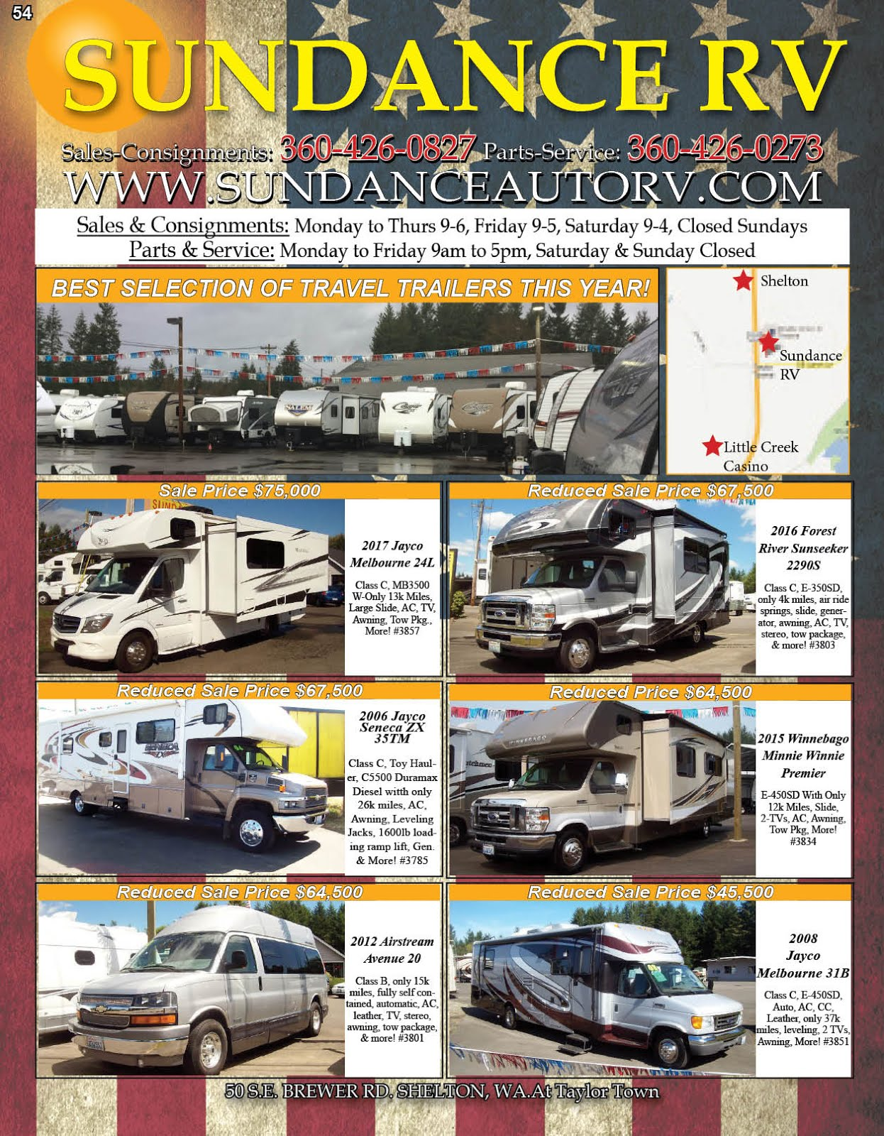 Sundance Auto & RV Center Sales & Service, Parts & Consignments
