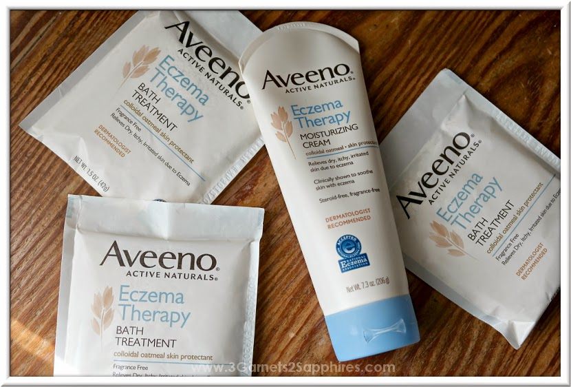 Aveeno Eczema Therapy Moisturizing Cream and Bath Treatment #AveenoEczemaTherapy #MC  |  www.3Garnets2Sapphires.com