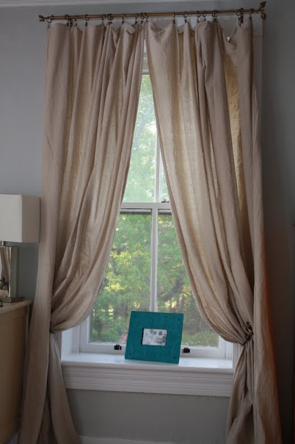 Get The Look Belgian Linen Window Panels Drop Cloth