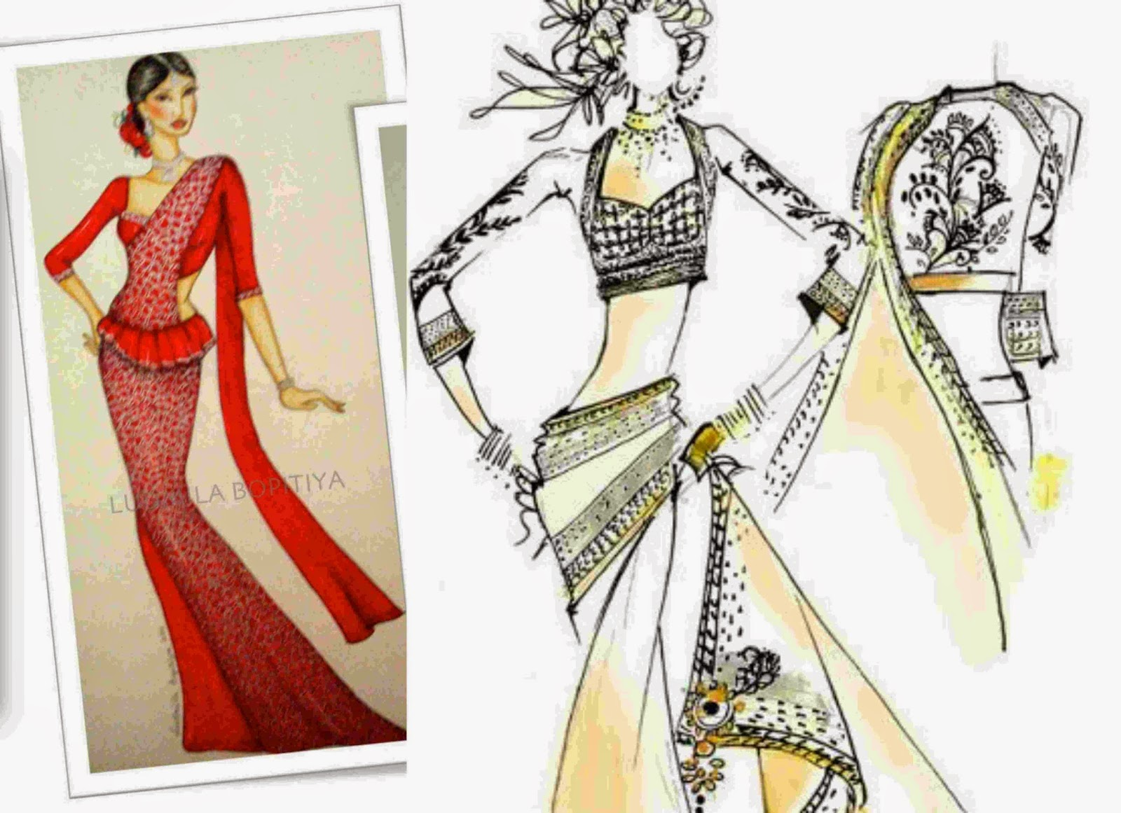 Fashions clicks sarees Contemporary fashion designers