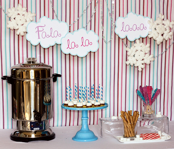 For a winter wedding we love the idea of having a hot cocoa bar accessible