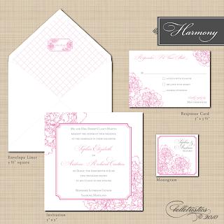 harmony peony diy wedding invitation stationery designs