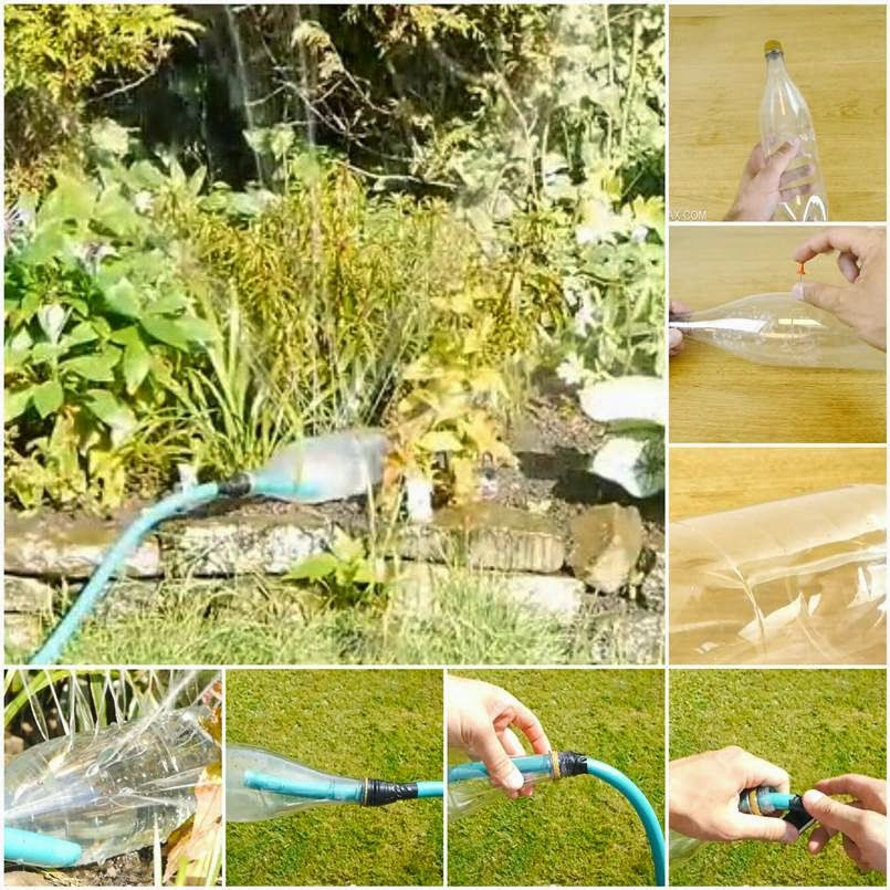 DIY Water Sprinklers from Plastic Bottle