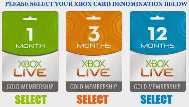 free xbox live codes listed free viewing
