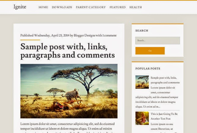 Ignite Responsive Blogger Template
