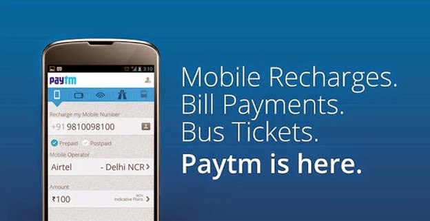 Get Rs 50 Cashback on Paytm