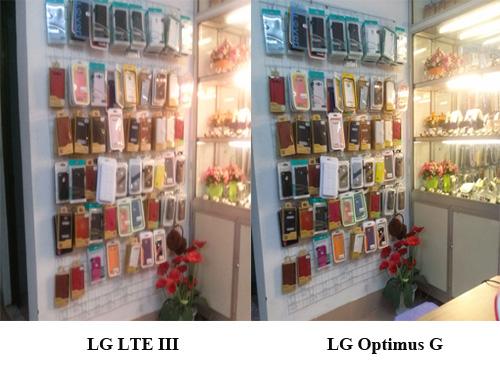 Hình chụp của LG OPtimus G và LG LTE 3