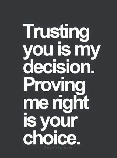 i have trust on you