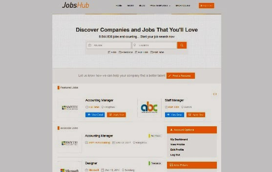 JobsHub - Professional Job Listing WP Theme