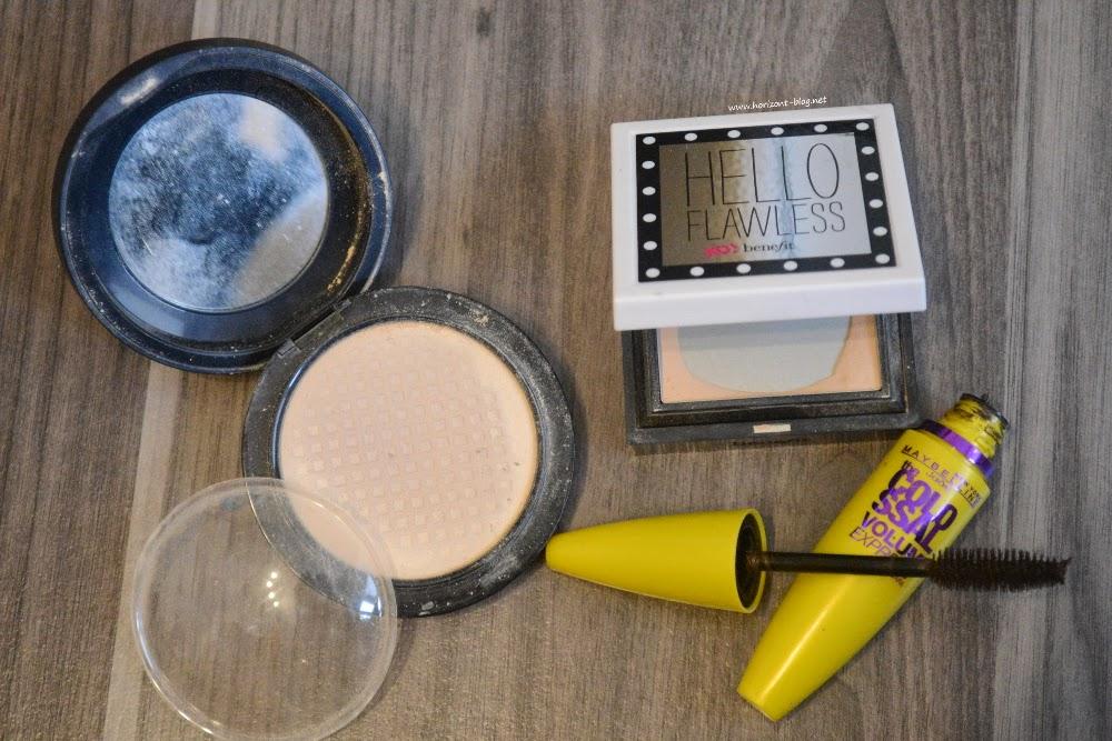 Aufgebrauchtes Make-Up