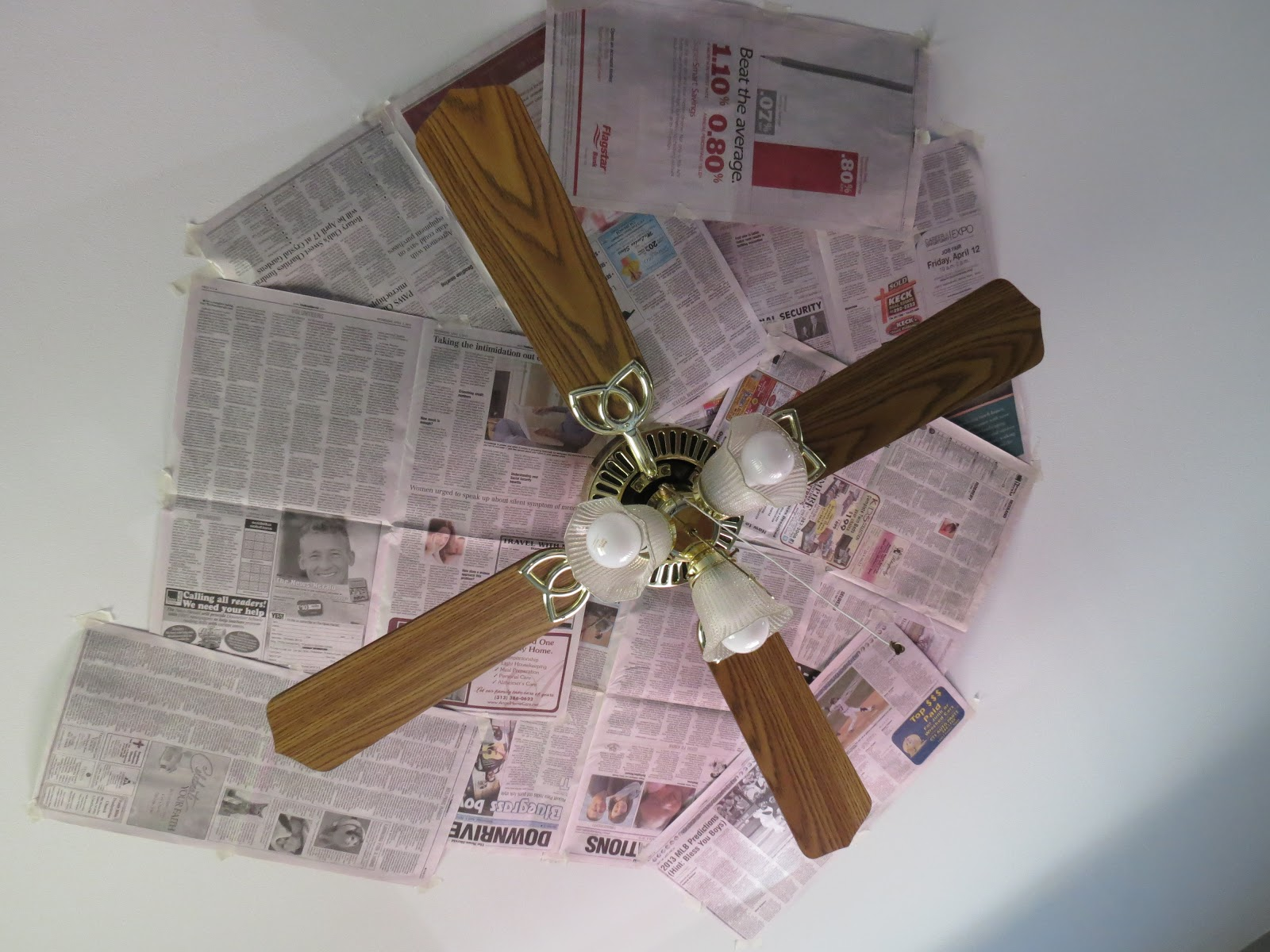 Walks Like Rain Serious Upcycle Ceiling Fan Update & DIY Mercury