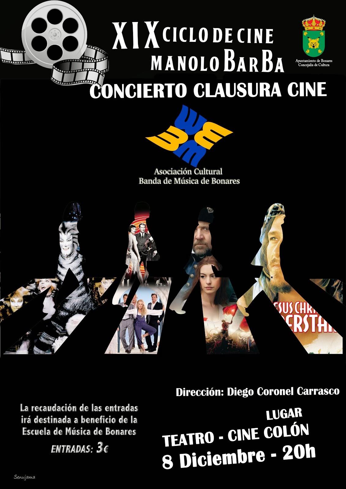 CONCIERTO CLAUSURA XIX CICLO CINE MANOLO BARBA