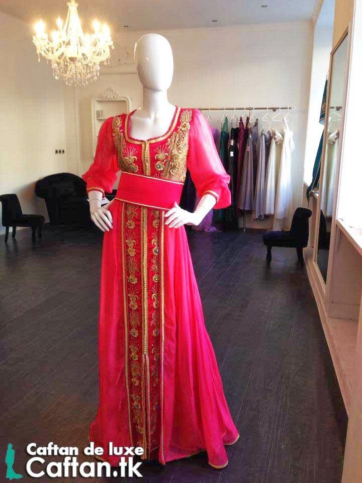 Caftan marocain rose d'or 2014