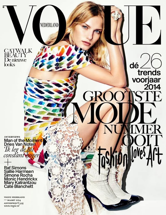 Marique Schimmel Photos from Vogue Netherlands Magazine Cover March 2014 HQ Scans