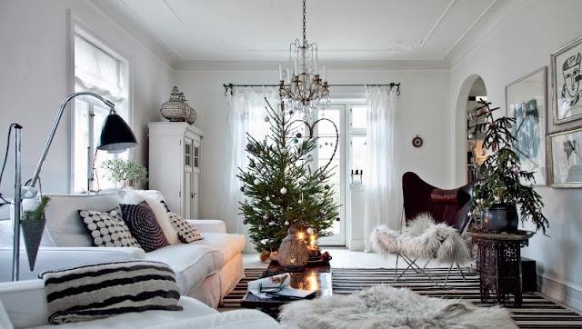 decoración escandinava para navidad