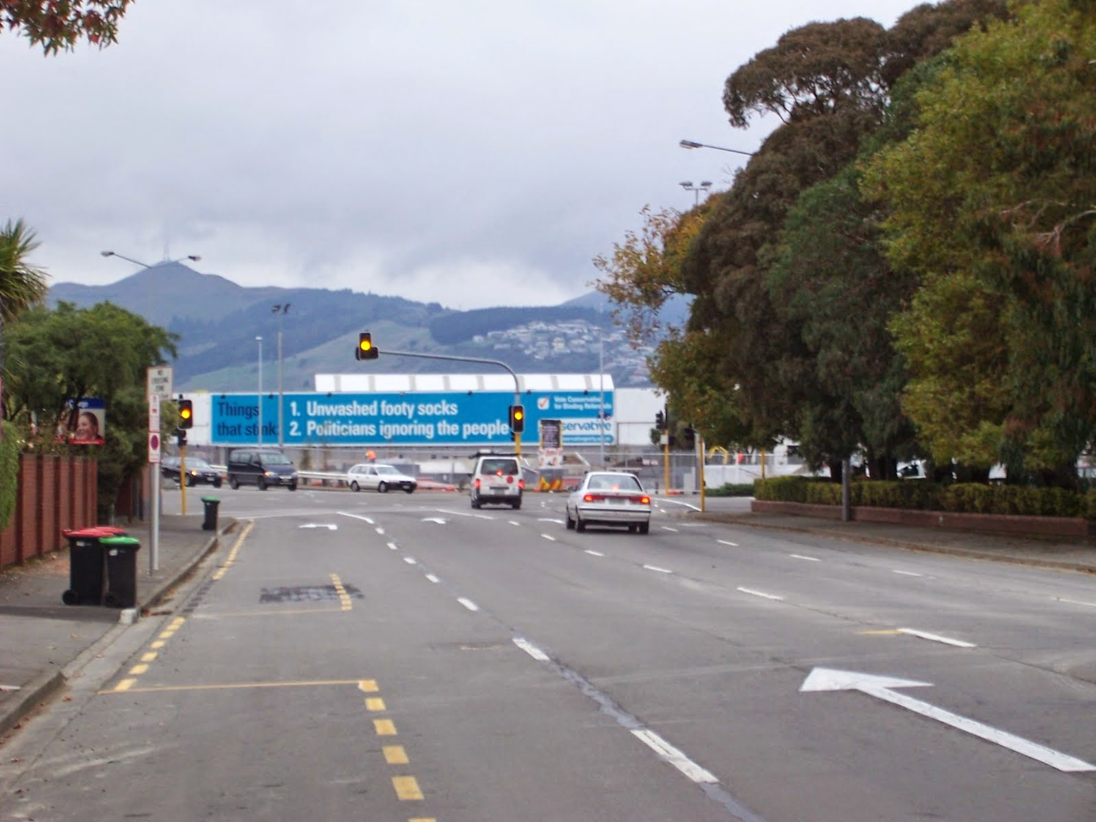Conservative Party Billboard in Christchurch, New Zealand