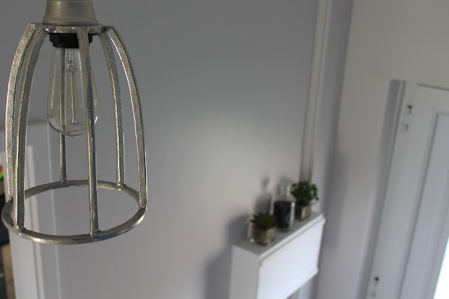 Metal Industrial Light Fitting with Filament Bulb