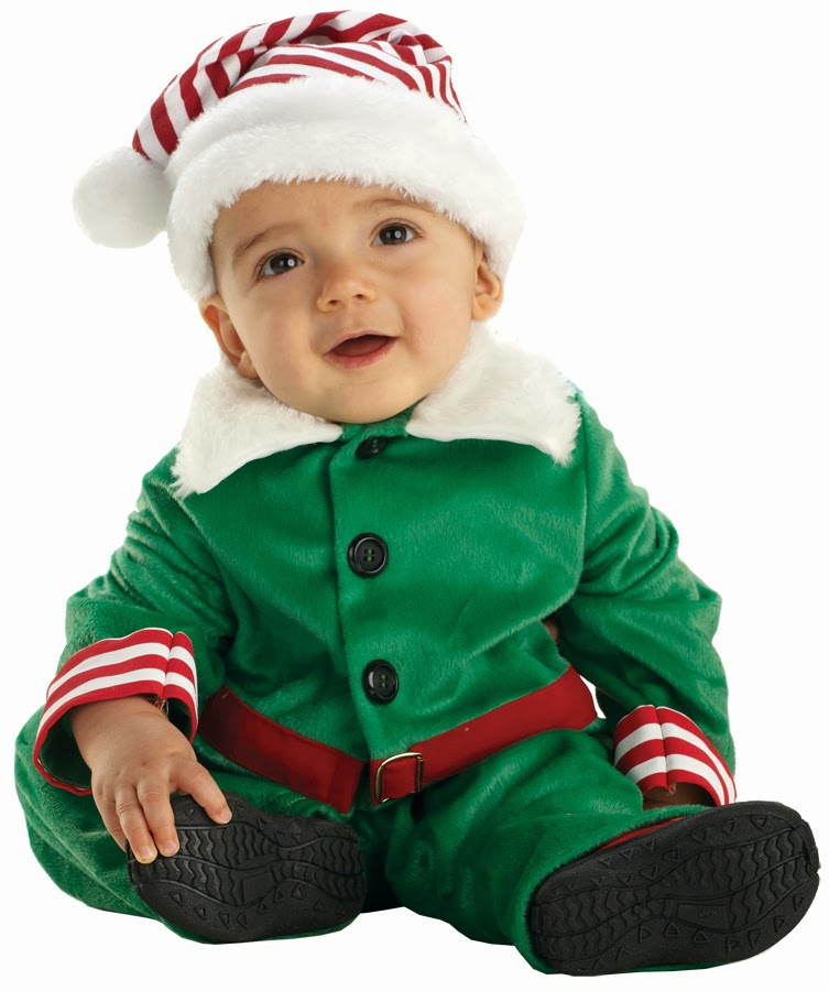 santas helper baby costume