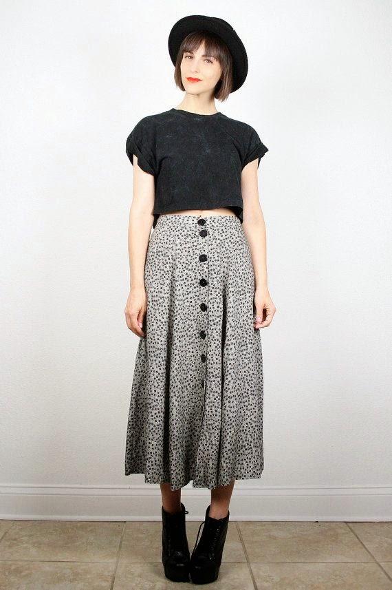 90 style long skirt