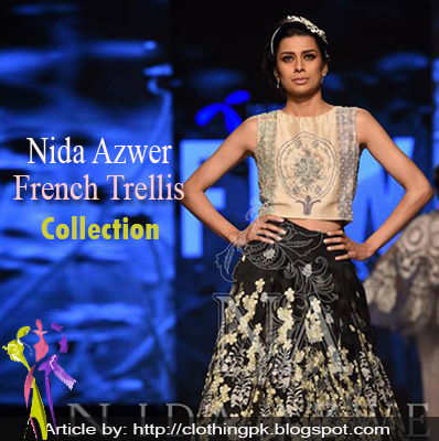 Nida Azwer Stylish French Trellis Summer Collection 2015 at TFPW