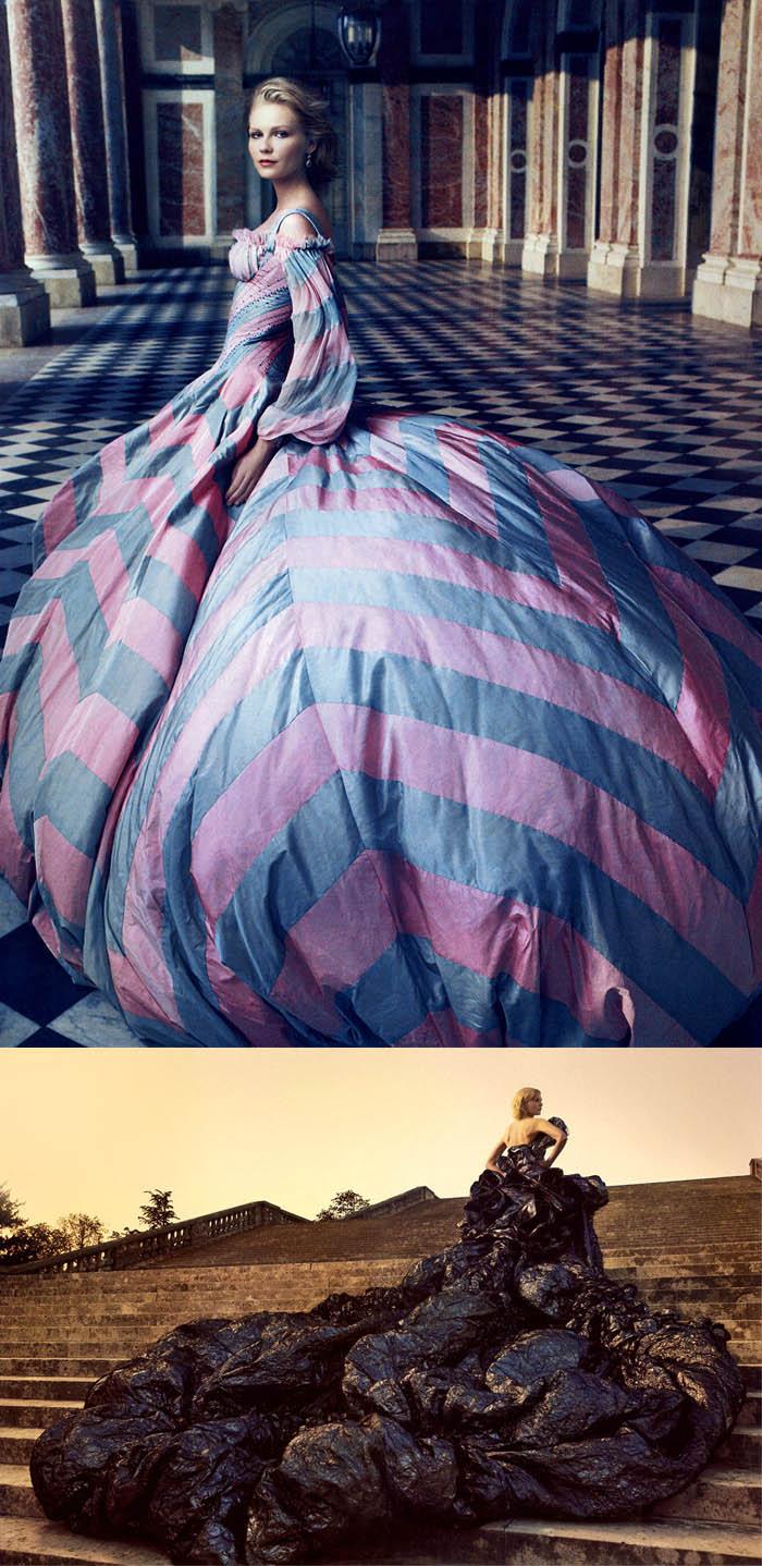 A RAINHA DA MODA_Kirsten dunst_Maria antonieta_ensaio vogue_Galliano_Dior_ensaio fotográfico