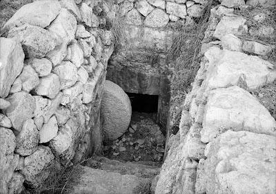Resurrection of Jesus Roll away the stone Clip Art
