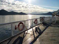 Op de ferry naar Vancouver