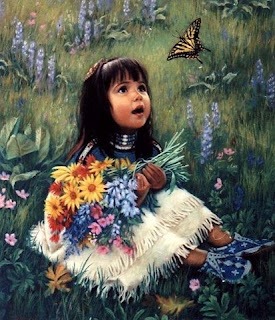 Μια αγκαλιά λουλούδια