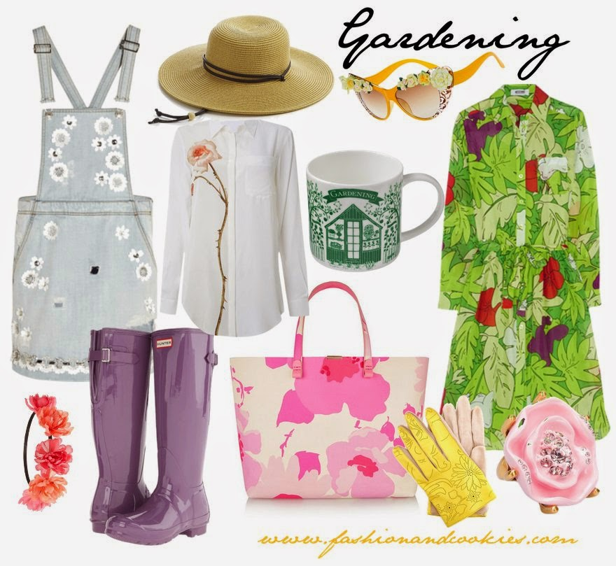 gardening inspired fashion, florals and gardening, spring summer 2015 florals on Fashion and Cookies fashion blog, fashion blogger