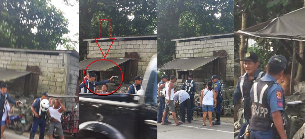Caught on Cam Policeman in Payatas Shoot and Pointed a Gun on a Motorist