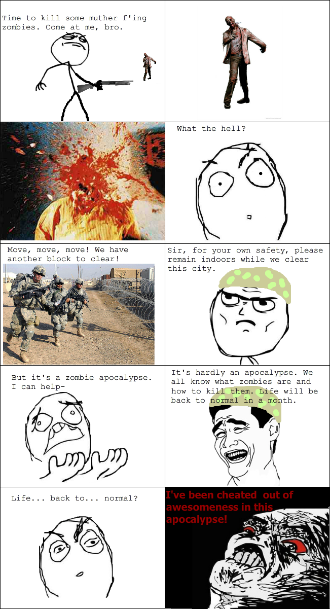 zombie+apocalypse+comic laughing vault funny pictures better clear internet history in,Funny History Meme Comics