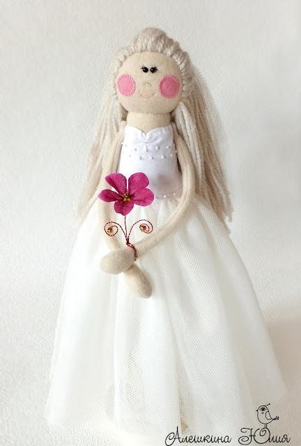 Невеста - авторская кукла