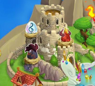 imagen de huevos de dragones especiales de la isla calabozo de dragon city