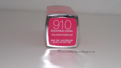 Maybelline Colour Sensational Lipstick Review - 910 Shocking Coral