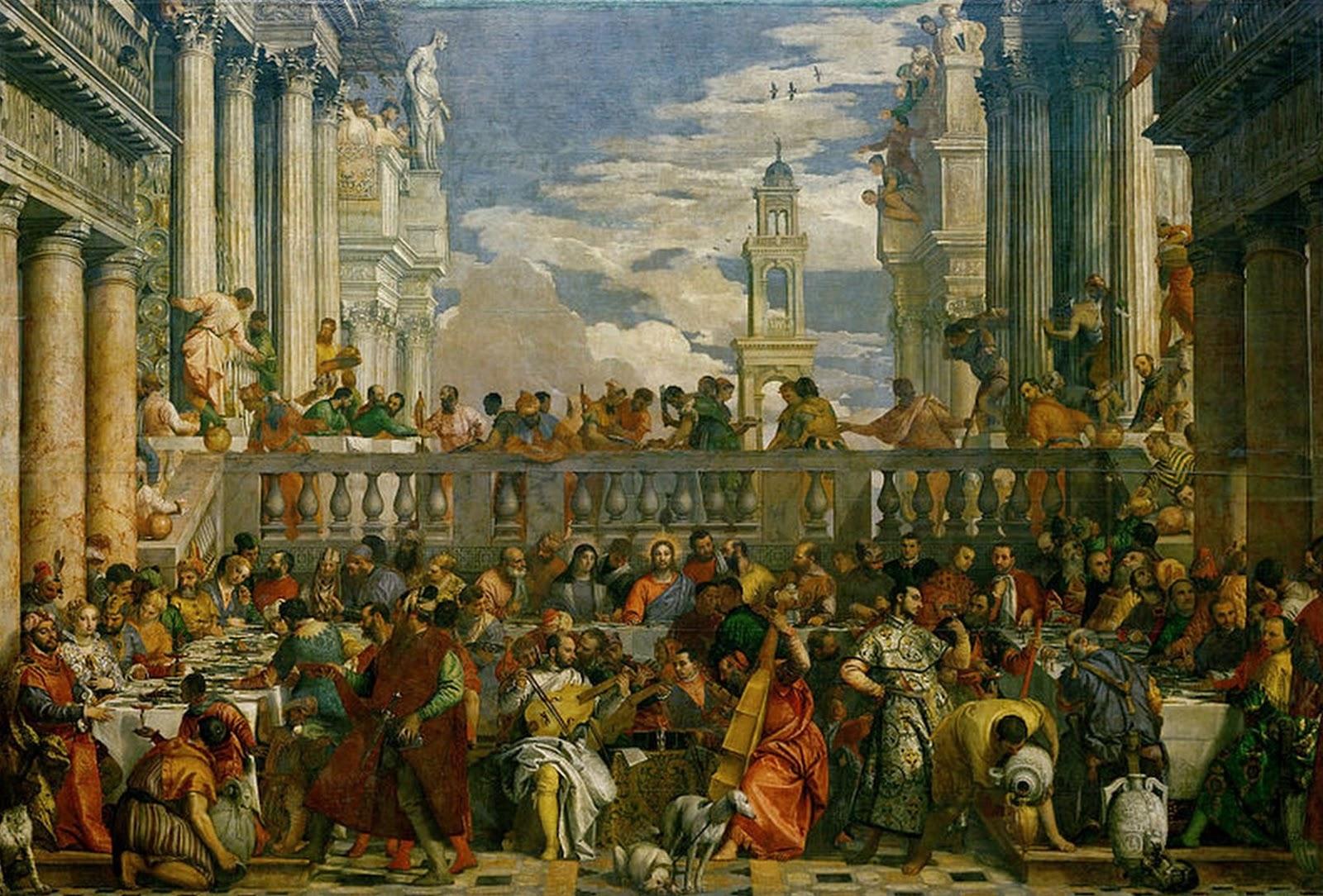 Pinturas Cuadros Lienzos al Óleo: Las bodas de Caná, 1563, El ...: elclubdelartelatino.blogspot.com/2013/02/pintor-paolo-cagliari-o-el...