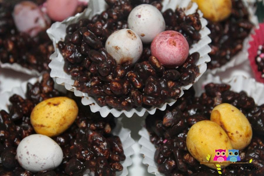 Chocolate Crackle Nests