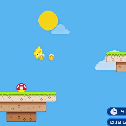 Sky Island, flash game.