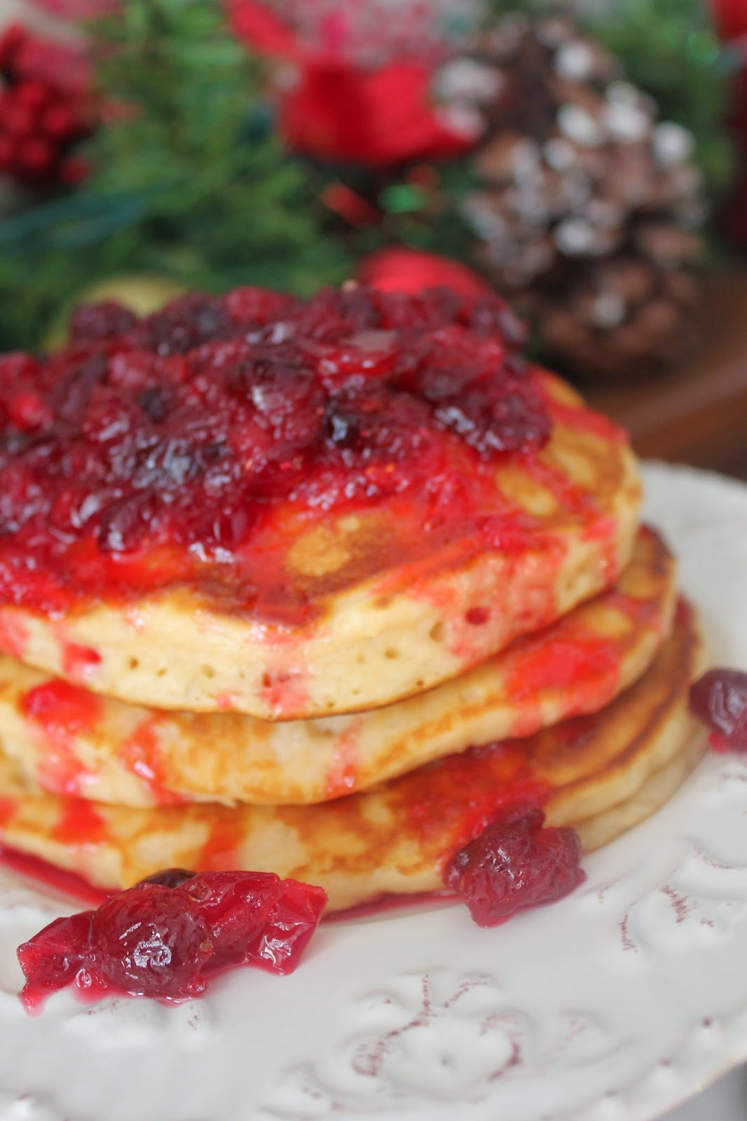 Christmas, Recipe:  Breakfast, Recipe:  Food Storage, Holiday Favorites, Egg Nog Pancakes, Cranberry Orange Syrup, best ever pancake, holiday favorite breakfast, Deals to Meals