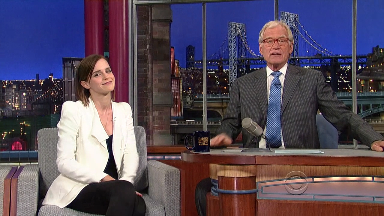 Different Emma watson upskirt david letterman